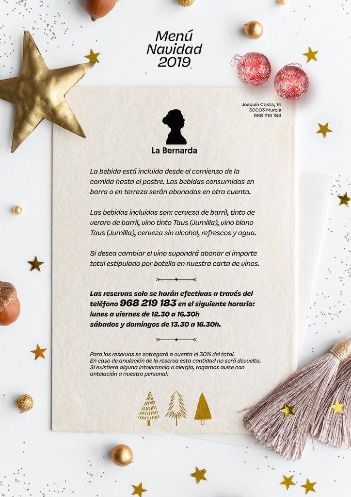 Menú Navidad 2019 La Bernarda 1