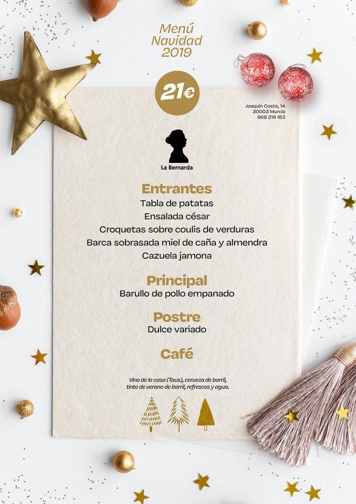Menú Navidad 2019 La Bernarda 2