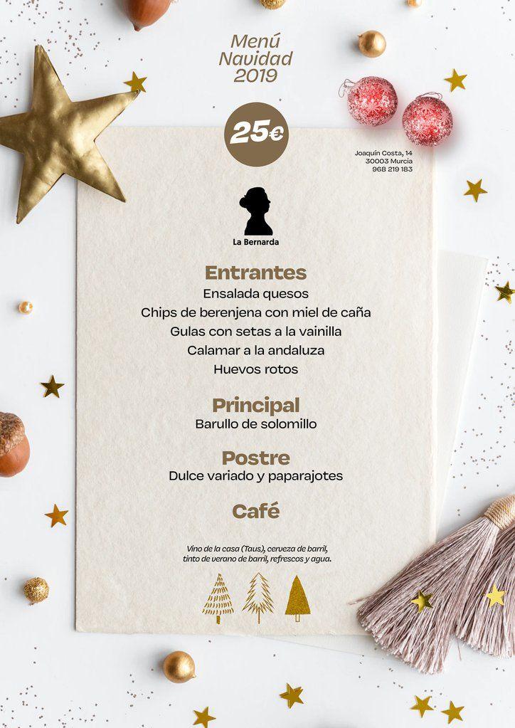 Menú Navidad 2019 La Bernarda 3